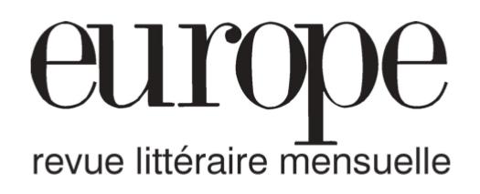 Europe (revue) : revue littéraire | Dobzynski, Charles. Éditeur scientifique